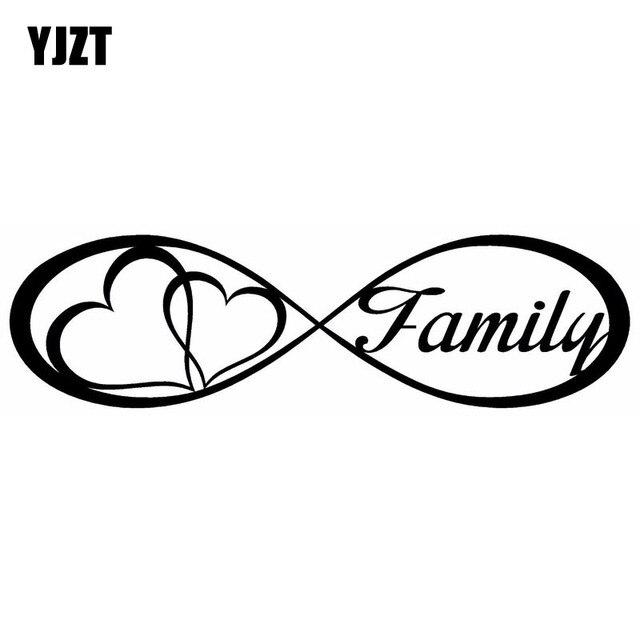 yjzt 20x5 6 cm familie liebe herz f r immer symbol vinyl aufkleber auto aufkleber auto styling. Black Bedroom Furniture Sets. Home Design Ideas
