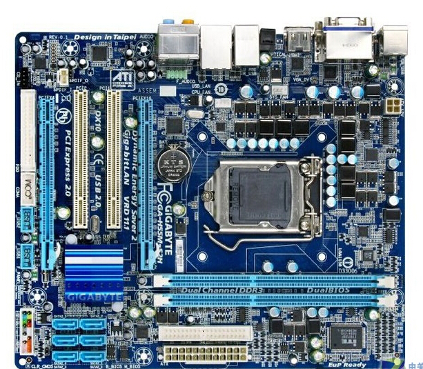 original motherboard for gigabyte GA-H55M-S2H LGA 1156 DDR3 H55M-S2H 8GB support i3 i5 i7 desktop motherboard Free shipping bathroom waterproof merry christmas pattern shower curtain
