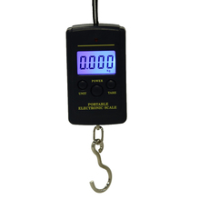 VKTECH 40kg x 10g Mini Digital Scale for Fishing Luggage Travel Weighting Steelyard Hanging Electronic Hook