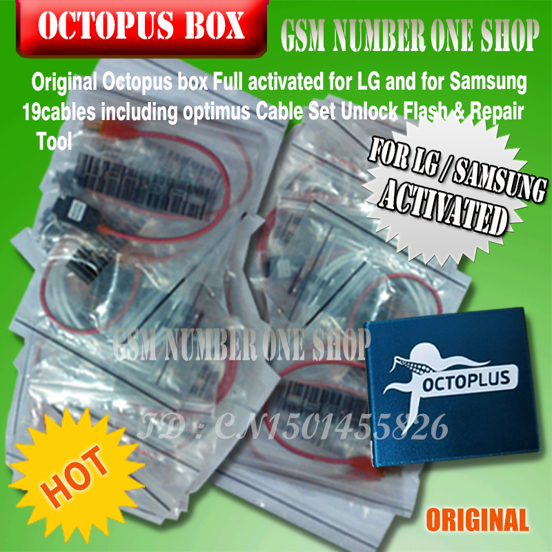 Octopus box Full activated for LG and for Samsung 19cables including  optimus Cable Set Unlock Flash