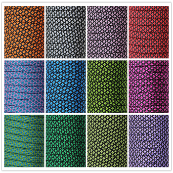 Nowe kolory Paracord 550 100FT lina Paracord typ III 7 stojak linka spadochronowa hurtownia Outdoor Camping Survival Rope tanie i dobre opinie Blue sunflower Survival Kit New Diamond pattern Silver Red Blue Etc 100ft 50ft 33ft Etc 7 Strand China