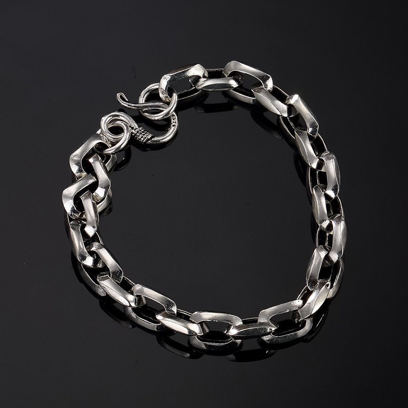 Europe, America, Japan, South Korea, Thai silver, personality, wild and simple, men's and women's bracelet wholesale. цена 2017