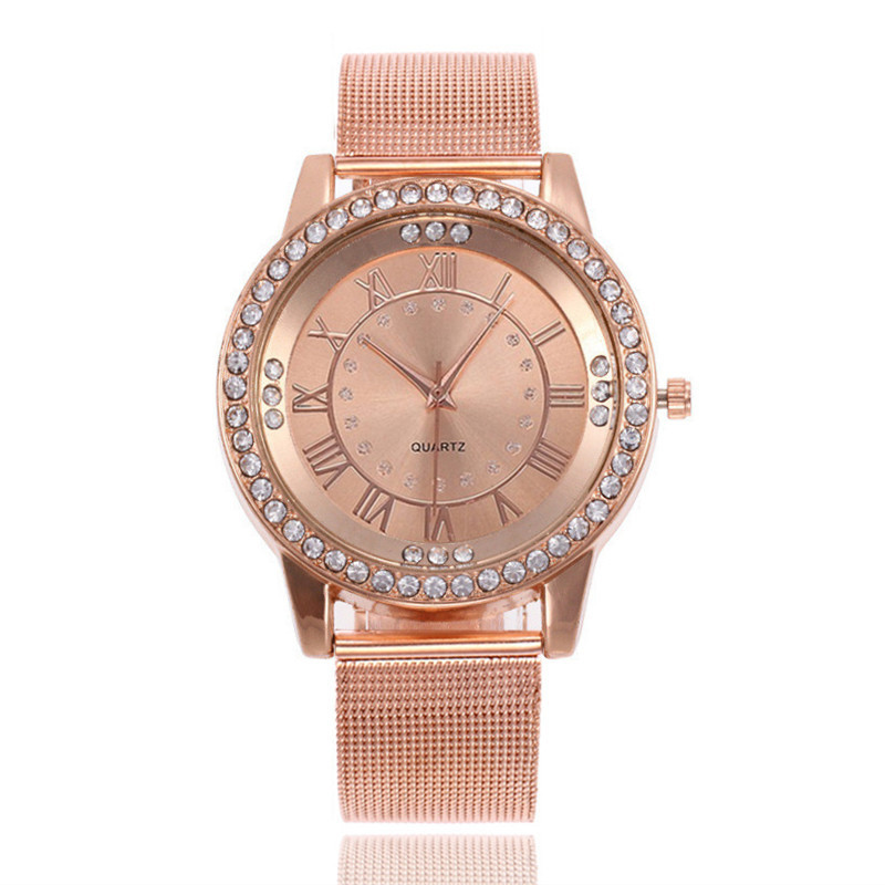 2020 New Famous Brand Silver Casual Geneva Quartz Watch Women Metal Mesh Stainless Steel Dress Watches Relogio Feminino Clock