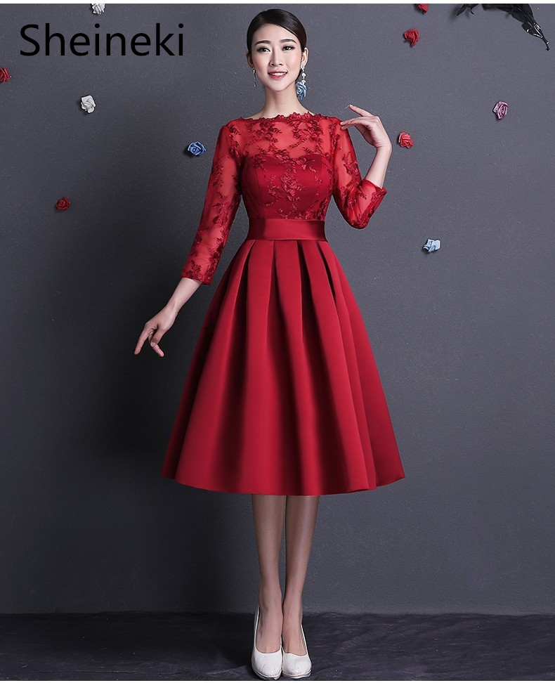Discount Designer Dresses Cocktail: 2018 Robe De Soiree Sexy Cheap Open Back Burgundy Lace
