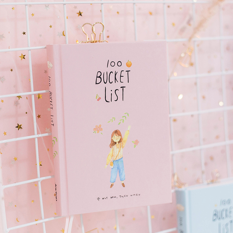 2018 saison 2 Korean Kawaii 100 Eimer Wunschliste Plan Zu tun Liste Cute Flower Bunte Boxed Tagesplaner Schule Stationären A5