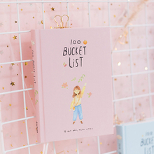 2019 Season 2 Korean Kawaii 100 Bucket Wish List Plan To Do List Cute Flower Colorful Boxed Daily Planner School Stationary A5