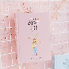 2019 Seizoen 2 Koreaanse Kawaii 100 Emmer Wens Lijst Plan Te Doen Lijst Leuke Bloem Kleurrijke Boxed Dagelijkse Planner School stationaire A5