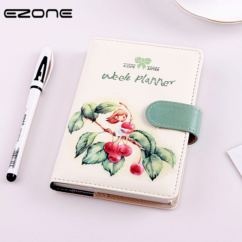 EZONE Cute Cartoon Notebook PU Cover Note Book Printed Kawaii Thumb Girl Notepad Traveler Journey Diary School Office Supply EZONE Cute Cartoon Notebook PU Cover Note Book Printed Kawaii Thumb Girl Notepad Traveler Journey Diary School Office Supply