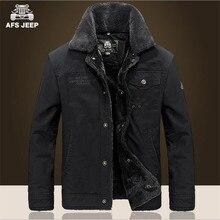 AFS JEEP Neue Stil Winter Dicke Wolle & Cashmere Mäntel, 100% Baumwolle Strickjacke Lose Cargo Jacke, Große Umlegekragen Jacken