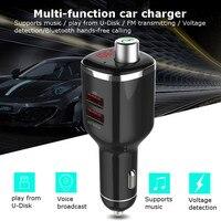 Kroak Автомобильный MP3-плеер Беспроводной Bluetooth fm-передатчик модулятор громкой связи Радио адаптер USB Зарядное устройство Car Kit