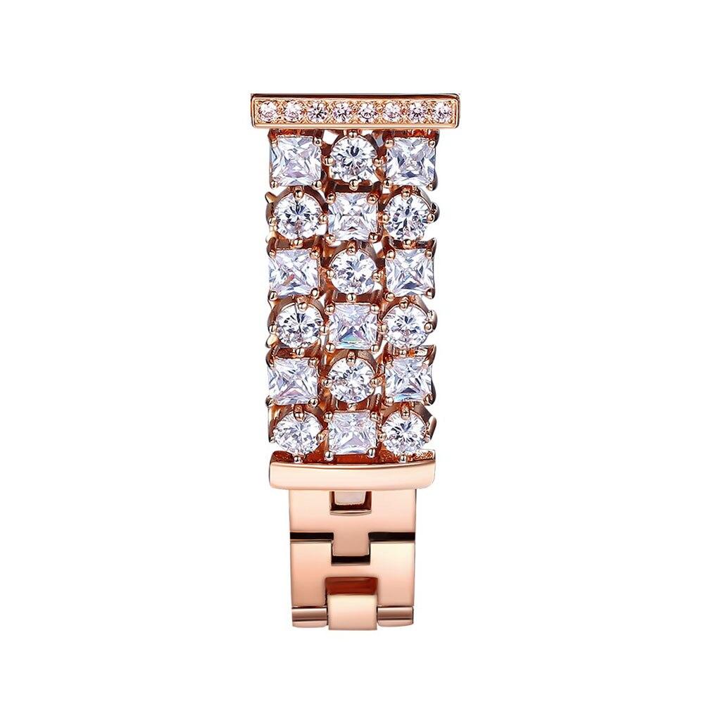 Bracelet en diamant Bling pour Samsung Galaxy Gear S3 bande en acier inoxydable strass frontière classique pour montre galaxie Bracelet 46mm - 3