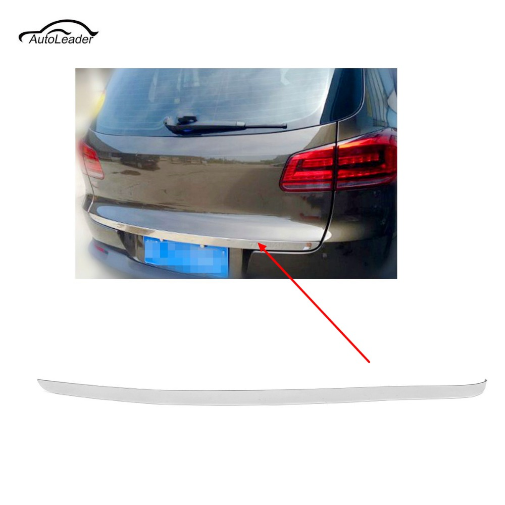 Car-Styling ABS Chrome Rear Trunk Tailgate Door Cover Tail Gate Trim for VW Tiguan 2010-2015