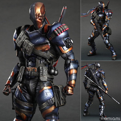 27cm Deathstroke Play Arts DC Action Figure Model Toy Come with Retail Box fire toy deadpool pvc action figure collectible model toy 10 27cm retail box wu124