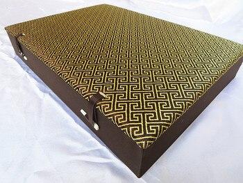 Boutique Cotton Filled Mens 12 grid Watch Box 12 slots Wood Jewelry Case Silk Brocade Crafts Stones Bracelet Storage Box