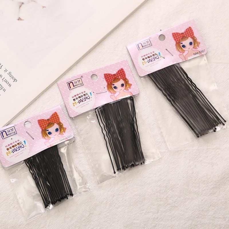 Aikelina 5CM/6CM/7CM Hair Waved Black U-shaped Bobby Pins Bridal   Headwear   Barrette Salon Grip Clips Hairpins Hair Accessories