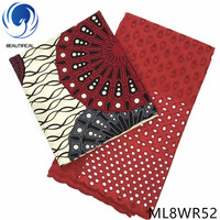 LIULANZHI African cotton fabrics Fashion style prints wax fabric with swiss voile lace fabric 3+2.5yards/lot ML8WR45 ML8WR65