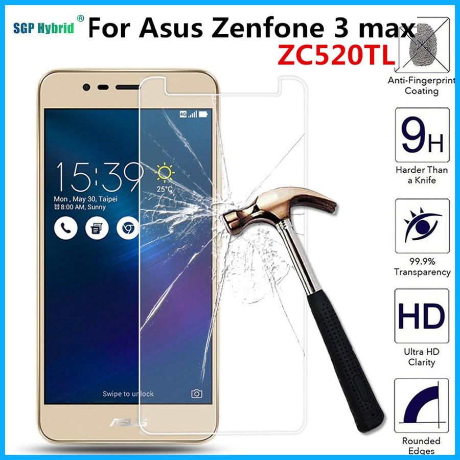 For Asus Zenfone 3 Zenfone3 Max 3MAX ZC520TL X008D ZC520 TL 5.2inch Tempered Glass Screen Protector Protective Guard Film Case