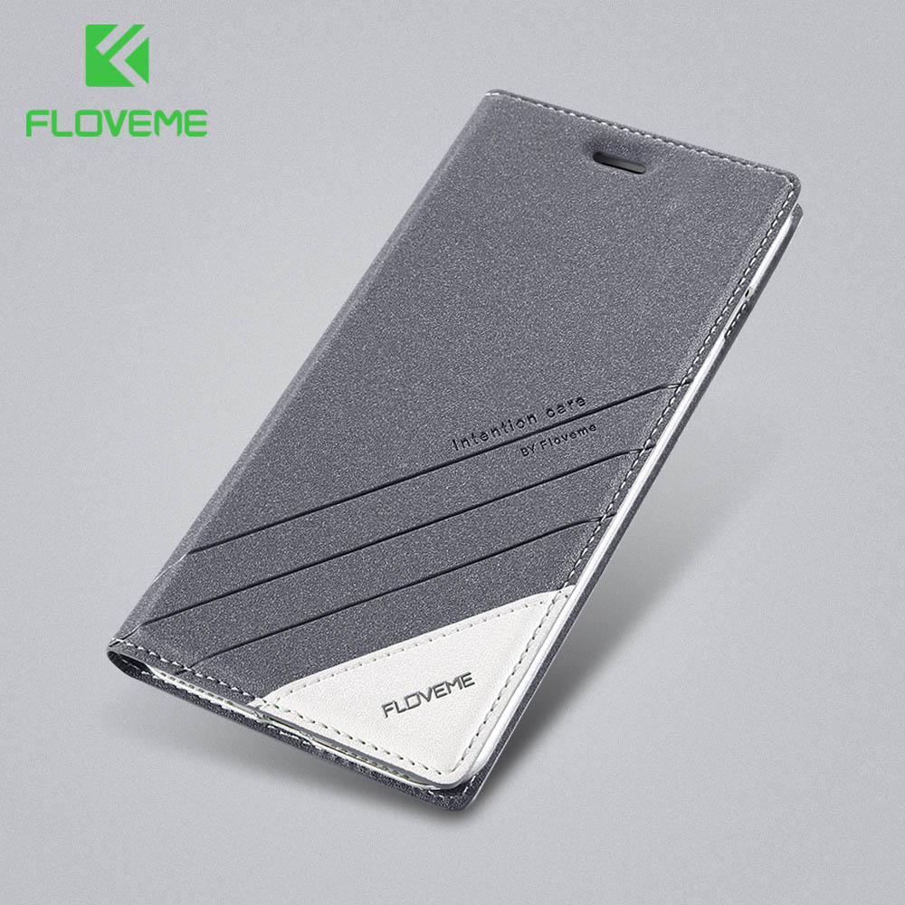 FLOVEME Wallet Case For iPhone 6S 6 7 8 Plus XS Max Leather Flip Stand Phone Cases For iPhone 5S SE X 10 XS XR Shell Coque Funda