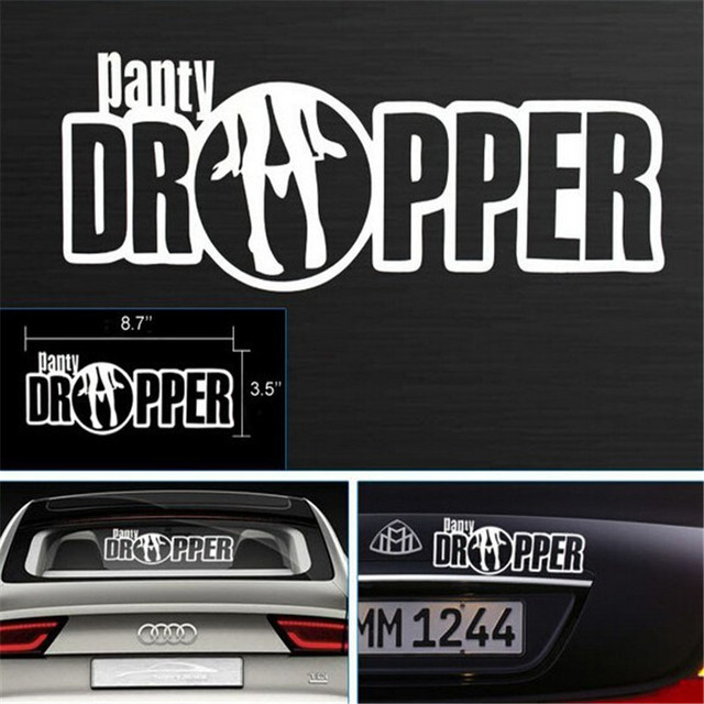 Panty dropper funny jokes adult humor sticker reflective vinyl window minion decals words style motorcycle vinilo