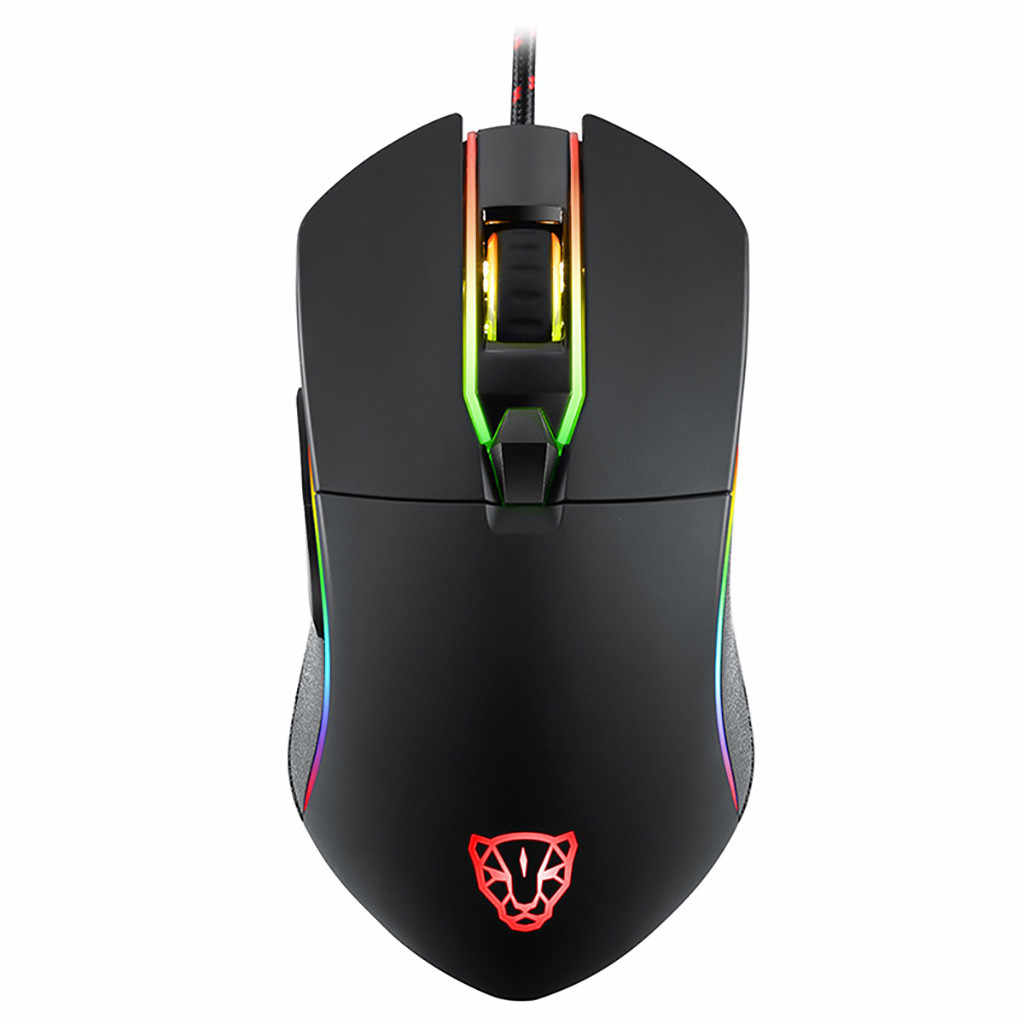 Professional Wired Gaming Mouse MOTOSPEED V30 3500DPI RGB Backlit 6 Buttons Wired Gaming Mouse Wired USB Games Cable Mouse