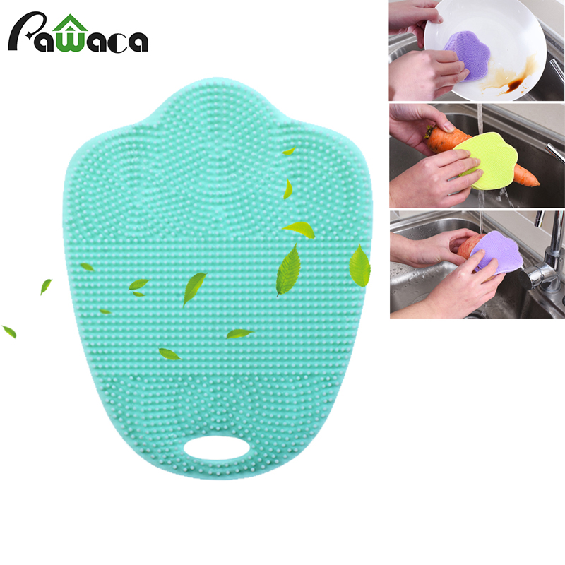 Multifunctional Silicone Cleaning Brushes Coffee Cup Dish Household Cleaning Tools Bowl Pot Pan Wash Brushes Cleaner