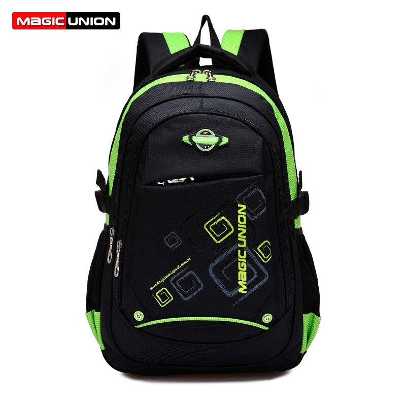 Backpacks Mochila UNION School-Bags Shoulder Nylon Lighten MAGIC for Kids Infantil Zip