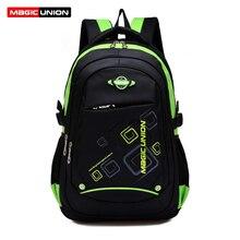 Magic union niños mochilas bolsos de escuela de nylon de alta calidad reducir la carga sobre el hombro para niños mochila mochila infantil zip