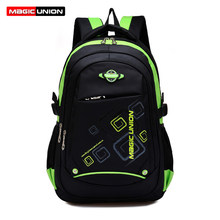 MAGIC UNION Children School Bags High Quality Nylon Backpacks Lighten Burden On Shoulder For Kids Backpack Mochila Infantil Zip(China)