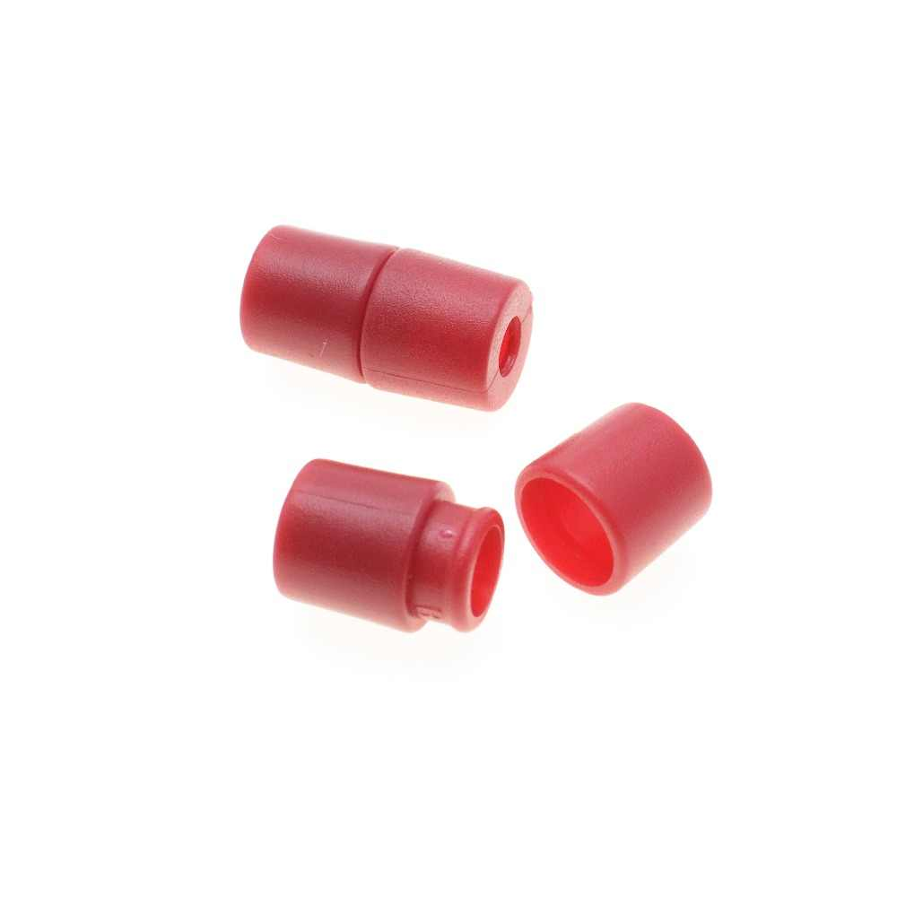 10 unidades/pacote Plástico Corda de Segurança Breakaway Pop Barrel Conectores Para Paracord & Fita Fitas Vermelhas