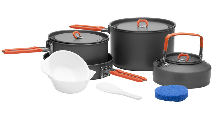 Fire-maple 4-5 Person Cooking Pot Camping Cookware Family Outdoor Pots Sets Feast4  new arrivals fire maple fmc 204 outdoor portable camping cooking pots sets non stick cookware camping equipments 720g