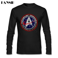 Leisure T Shirt Mens Star Trek Logo O Neck Long Sleeve Cotton Men T Shirts 3XL
