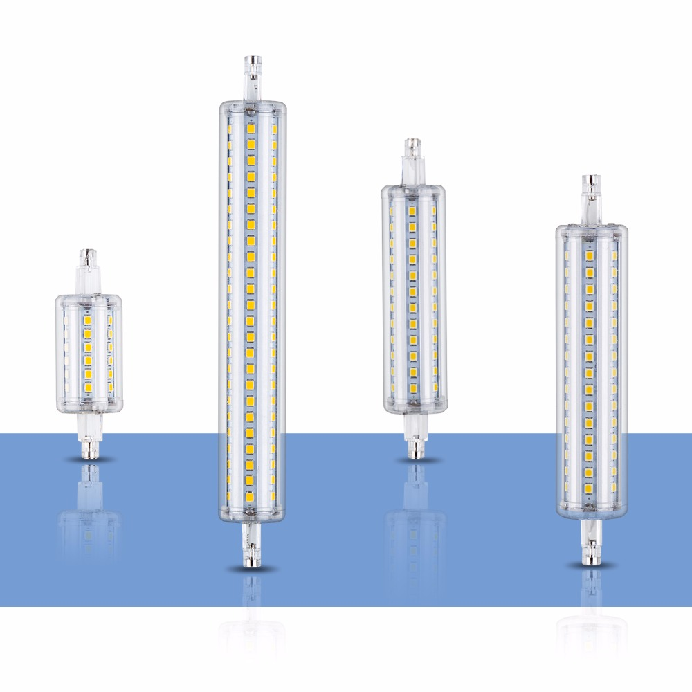 R7S LED Tube Lamp Horizontal plug Light Bulb 220V R7S LED 78mm 118mm R7S Lamp 135mm 189mm 2835 LED Corn Bulb 110V 5W 10W 12W 15W