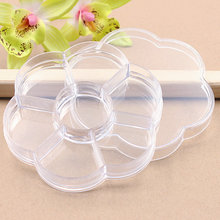 1pcs Transparent Plum blossom Travel Vacations pills Jewelry Necklace Electronic materials and accessories Storage Box
