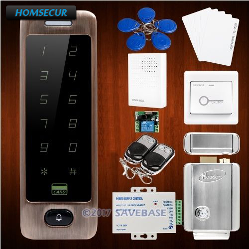 HOMSECUR DIY Anti-Vandal 125Khz ID Metal Access Control System With 3 Optional Color