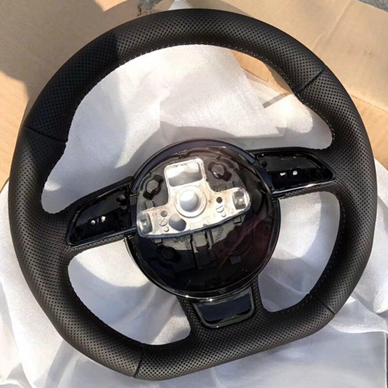 Para Audi A3 A4 A5 A6 A7 Q3 Q5 Q7 totalmente perfurado volante volante de fundo chato de campanha
