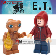 Single Sale Building Blocks Movie Extra-Terrestrial E.T. Stitch Angie Elliott Science Action Figures Legoings Kids Gift Toys(China)