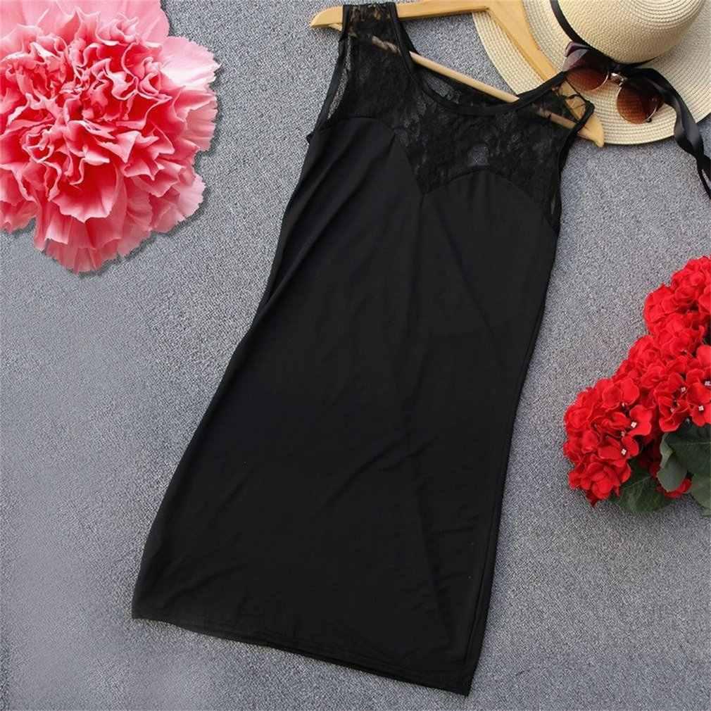 Пикантные Для женщин кружевное мини-платье для коктейля Черный выдалбливают Клубная одежда без рукава с круглым вырезом XS/S/M/L размер черный цвет