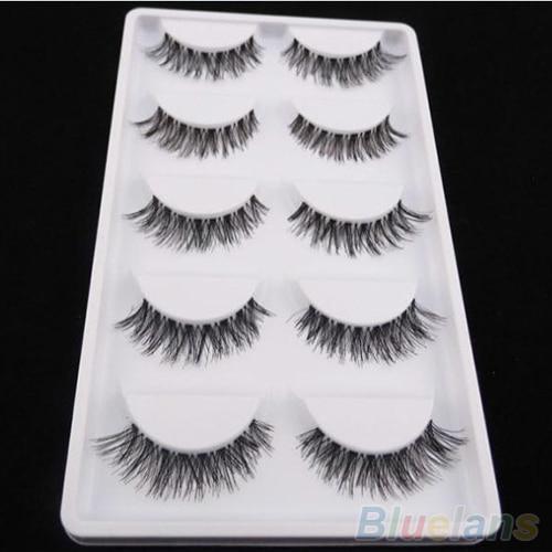 5 Pairs Black Natural Cross False Eyelashes Soft Long Thick Curl Fake Eyelashes Extension Beauty Eye Makeup Tools Maquiagem 2019