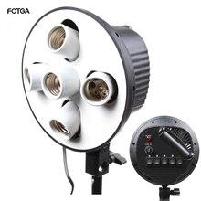 5-в-1 5 гнезд E27 лампы головного кронштейн светильник лампы-вспышки адаптер для держателя зонта для фотостудии софтбокс монопод стенд