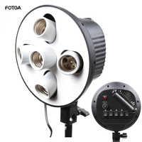 5-In-1 5 Buchse E27 Birne Kopf Halterung Licht-Lampe Regenschirm Halter Adapter für Foto Studio softbox Einbeinstativ Stehen