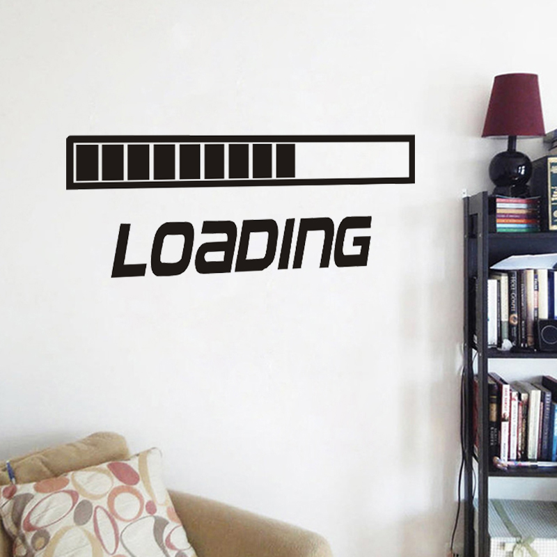 JJRUI LOADING GAMING Vinyl Wall Decal Art Room Decor Sticker Word Lettering  Quote Bedroom Living Room Wall Stickers. LOADING GAMING Vinyl Wall Decal Art Room Decor Sticker Word
