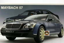 *Blue 1:18 AutoArt AA Maybach 57 Diecast Model Car Luxury Gifts Collection Mini Model Car Kits Limitied Edition