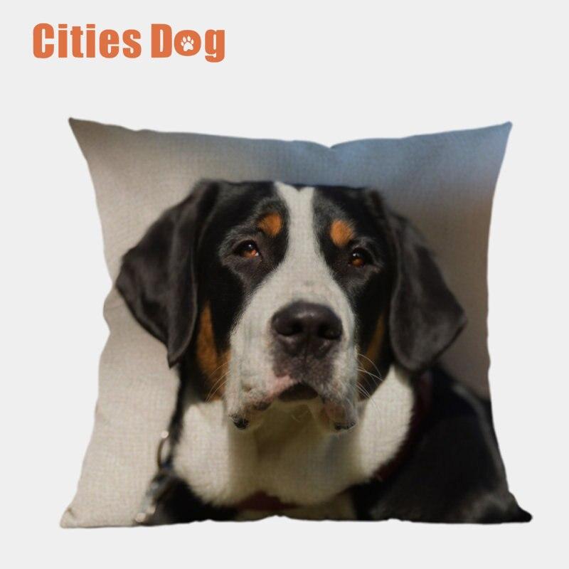 Greater Swiss Mountain Dog Animal Cotton Linen Pillowcase Decorative Pillows Cushion Use For Home Sofa Car Office Almofadas