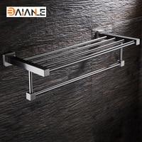 Bathroom Towel Rack Stainless Steel Brushed wall mount towel Holder towel Shelf acessorios
