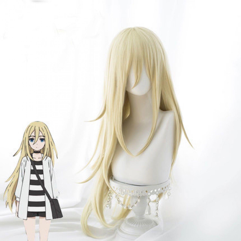 New Japan Anime Gardner Anjos da Morte de Rachel Ray Loira Longa Reta Cosplay Peruca festa perucas de Fibra Resistente Ao Calor