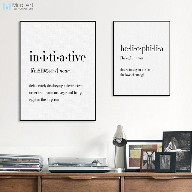Modern Typography Joy Yoga Life Quotes A60 Posters Nordic Living Room Interesting Posters With Quotes On Life