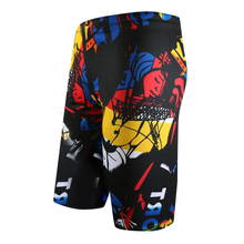 Sexy Men Swimwear Long Swimming Trunks Beach Board Mens Swimsuit Print Boxer Briefs Shorts Pants