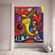 DIY Painting By Numbers Kits Hand painted Oil Style Unique Gift For Home Artwork Modern Decor Abstract The Music World Pictures