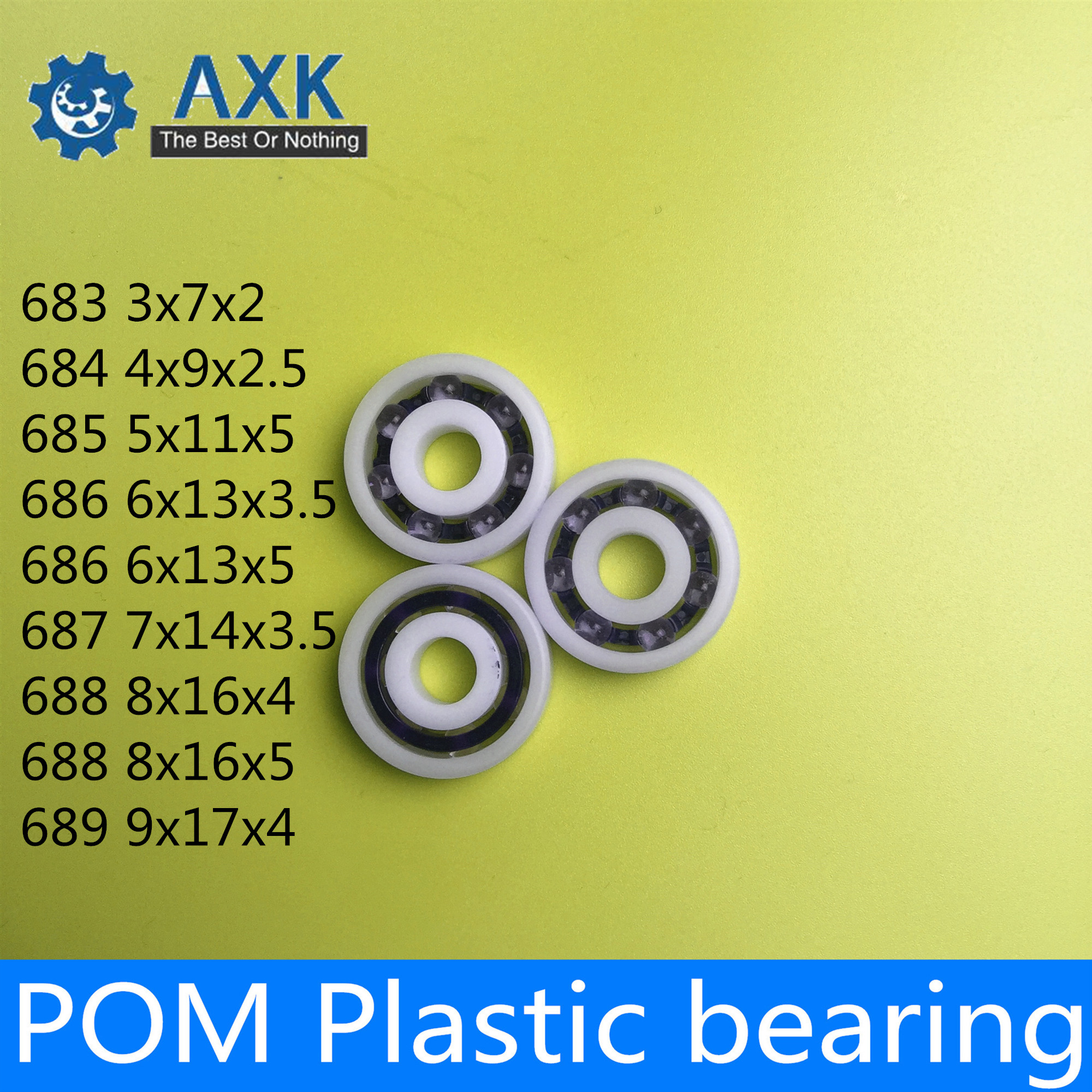 4 pcs 688 8*16*4 Plastic Nylon POM Ball Bearings 8x16x4 mm