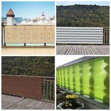 0,9x1,8/2,7/3,6 м HDPE УФ зонт чистая двор дома ссылка забор для страховочной сеткой растительного покрова Защита от солнечных лучей, с защитой от солнечных лучей, ткань для затенения